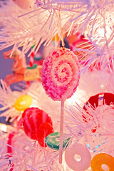 Christmas Tree Closeup (boopsie.daisy) Tags: christmas tree pretty glow candy garland sugar lollipop