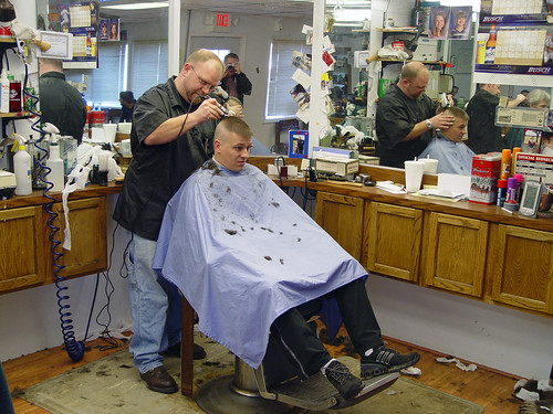 Springfield IL - Beggs Barber Shop (2 of 9) by myoldpostcards