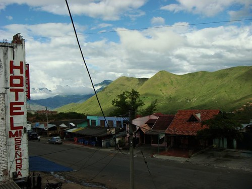 View from my room in Cano, my second night in Colombia.