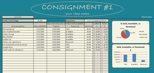 Consignment keeper screenshot