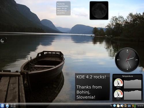 KDE 4.2 Desktop by JRepin.