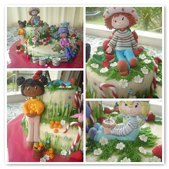 strawberry shortcake mosaic (The Whole Cake and Caboodle ( lisa )) Tags: newzealand cakes cake fdsflickrtoys strawberry strawberryshortcake whangarei ssc buttercream orangeblossom caboodle angelcake fondantfigures thewholecakeandcaboodle