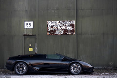 LP640 R. (Denniske) Tags: lines digital canon eos am rust photoshoot shot martin belgium air side profile january rusty belgi optical sigma os 01 strip 09 lp be dennis 31 lamborghini 18200 base 2009 v8 aston rami vantage limburg roadster murcielago 640 sinttruiden fotoshoot noten carspotting emmerson stabilizer 18200mm sttruiden brustem 3563 lp640 f3563 40d n400 denniske dennisnoten v8v