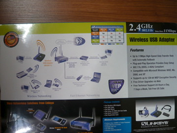 Linksys Wireless USB Adaptor $40