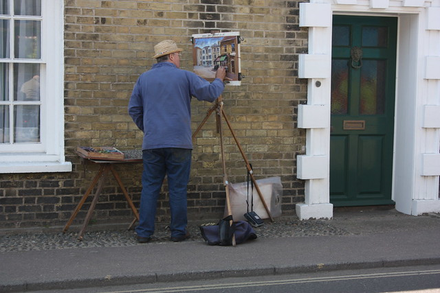 A man painting in Southwold