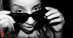 Random Throwback Pic of the day (Dre007) Tags: bw white black colors female contrast shades piercing saturation gaze redbone desaturate 50d browpierced