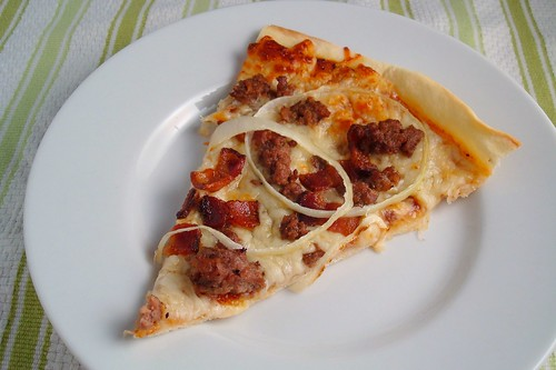 pizza slice clipart. Cheeseburger Pizza Slice