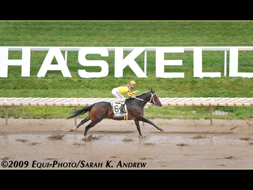 Rachel Alexandra winning the Haskell