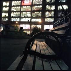 img829 (joelluber) Tags: 120 tlr film mediumformat square parkbench expired unionsquare newyorkny twinlensreflex 800iso kodakportra800 minoltaautocordmxs