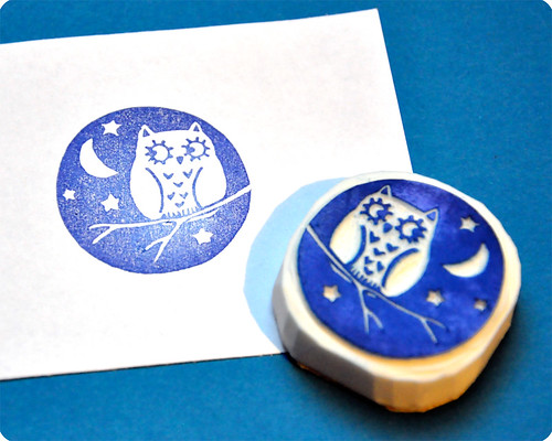 Luar do mocho hand carved rubber stamp
