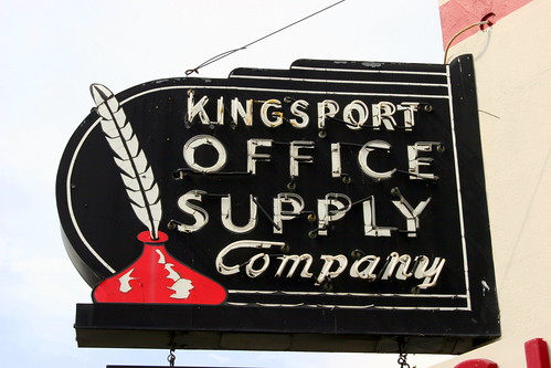 Kingsport Office Supply Company neon sign