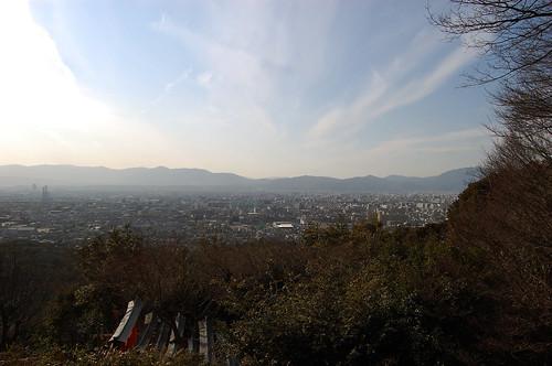 La vue du haut de Fushimi Inari Taisha