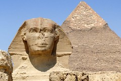 THE SPHINX AND THE PYRAMID (Butch Osborne) Tags: travel sphinx lumix fantastic ancient pyramid egypt panasonic made explore traveling breathtaking noble gct mustsee explored madeexplore avision grandcircletravel seeninexplore panasonicdmcfz50  excapture bucketlist explorewinnersoftheworld