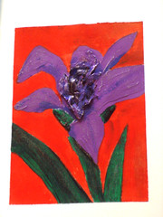 Iris (timandchie) Tags: collage painting paper acrylic handmade mixedmedia aceo etsy playingcard artcard