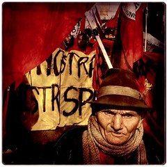 "Avanti Popolo (""Forward People!"") (Osvaldo_Zoom) Tags: red portrait march peace aged redflag 500x500 firstquality artlibre upwiththepeople popularsong ariseyouworkers forwardpeople"