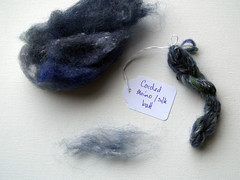 Carded merino/silk