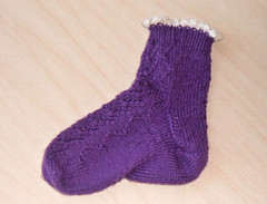 One sock finished