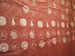 hand printed fabric - bunny theme