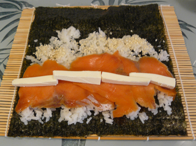 Smoked Salmon & Cream Cheese Sushi