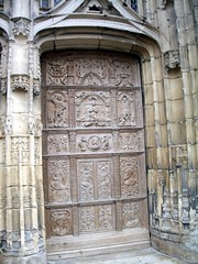 Old Door, Limoges Cathedral, France (maisonburke) Tags: france doors churches cathedrals