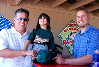 Dan, Olivia &San Diego Padres Josh Bard
