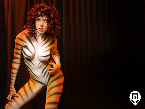 Tiger body paint apologise, but