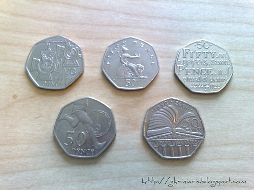 My coin collection (50p)