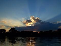 Reach for the Sky! (p.csizmadia) Tags: blue light sunset ohio sky reflection clouds kodak rays heavenly huron beams csizmadia kodakz812is z812is pcsizmadia