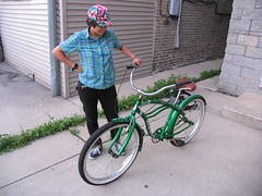 Rachel with my new bike