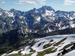 Stuart Mountain and Sherpa Peak from Cashmere Mountain 6/27/08