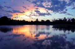 Prairie Sunset (NaturalLight) Tags: park sunset reflection creek island pond kansas wichita chisholm naturesfinest specland abigfave chisholmcreekpark anawesomeshot