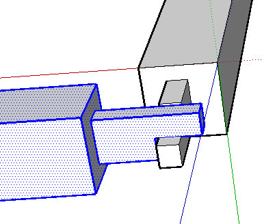 Internal mortise joint