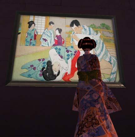 Queen Enjoying Art