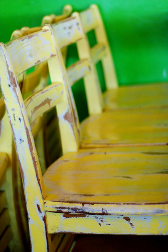 The chairs at Cootie Brown's