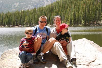 family photo at bear lake