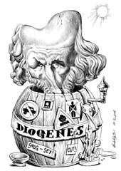DIÓGENES de Sinope (Morales de los Ríos) Tags: writers caricaturas philosophers caricatures escritores filósofos