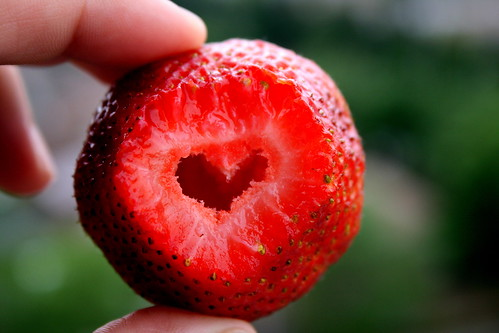 heart inside my strawberry! / Aveen L♥ve