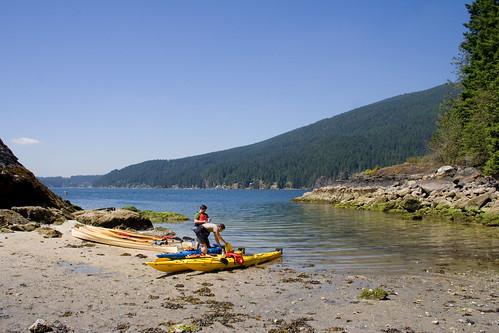 Kayak à Deep Cove