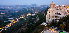 Southern Hill Country (Mohammed Farhat) Tags: light lebanon tower church night high catholic south christian hills maghdouche
