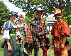 Street Cast at the Bristol Renaissance Faire (skeggy) Tags: usa festival wisconsin bristol photo illinois mask image jester border expressions july tights creativecommons faire elizabethan renfair fools renaissance harlequin 2007 jesters 16thcentury revelry kenosha commediadellarte buffoon feastoffools attributionnoncommercialsharealike particolored streetcast