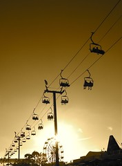(SmartAnnie (Away)) Tags: sunset silhouette sepia southerncalifornia costamesa skyride ocfair goldstaraward