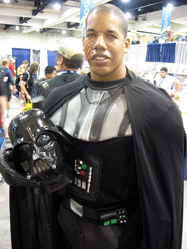 This fan not only went all out with his Darth Vader costume,