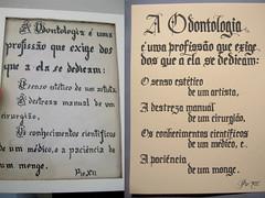 A Odontologia (Marina Chaccur) Tags: textura text calligraphy blackletter texto guache caligrafia gtica pioxii odontologia antesedepois profisso