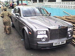 Rolls Royce Phantom in a market in Lagos Nigeria (Omega E) Tags: cars mercedes benz rich lagos exotic nigeria rolls phantom royce maybach abuja asokoro
