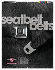 Buckledown Seatbelt Belt Catalog - Front Cover