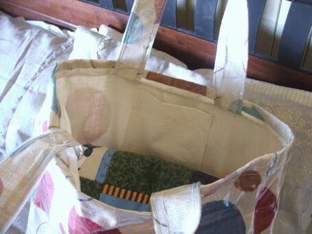 inside spotted bag
