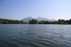 小野川湖の湖上から見た会津磐梯山