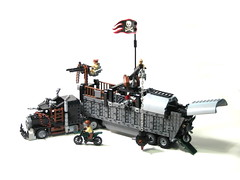 king of the road (psiaki) Tags: truck deathrace lego apocalypse semi kenworth wreckingball moc