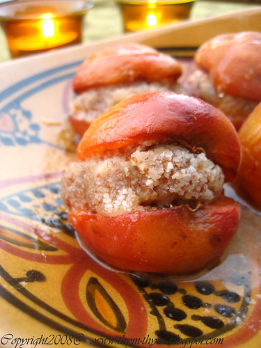 Baked Apricots filled with Almond Paste