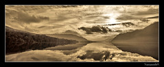 Ullswater. (numanoid69) Tags: lake mountains sepia reflections landscape nationalpark lakedistrict cumbria fells ullswater almostanything betterthangood nikond300 prideofengland